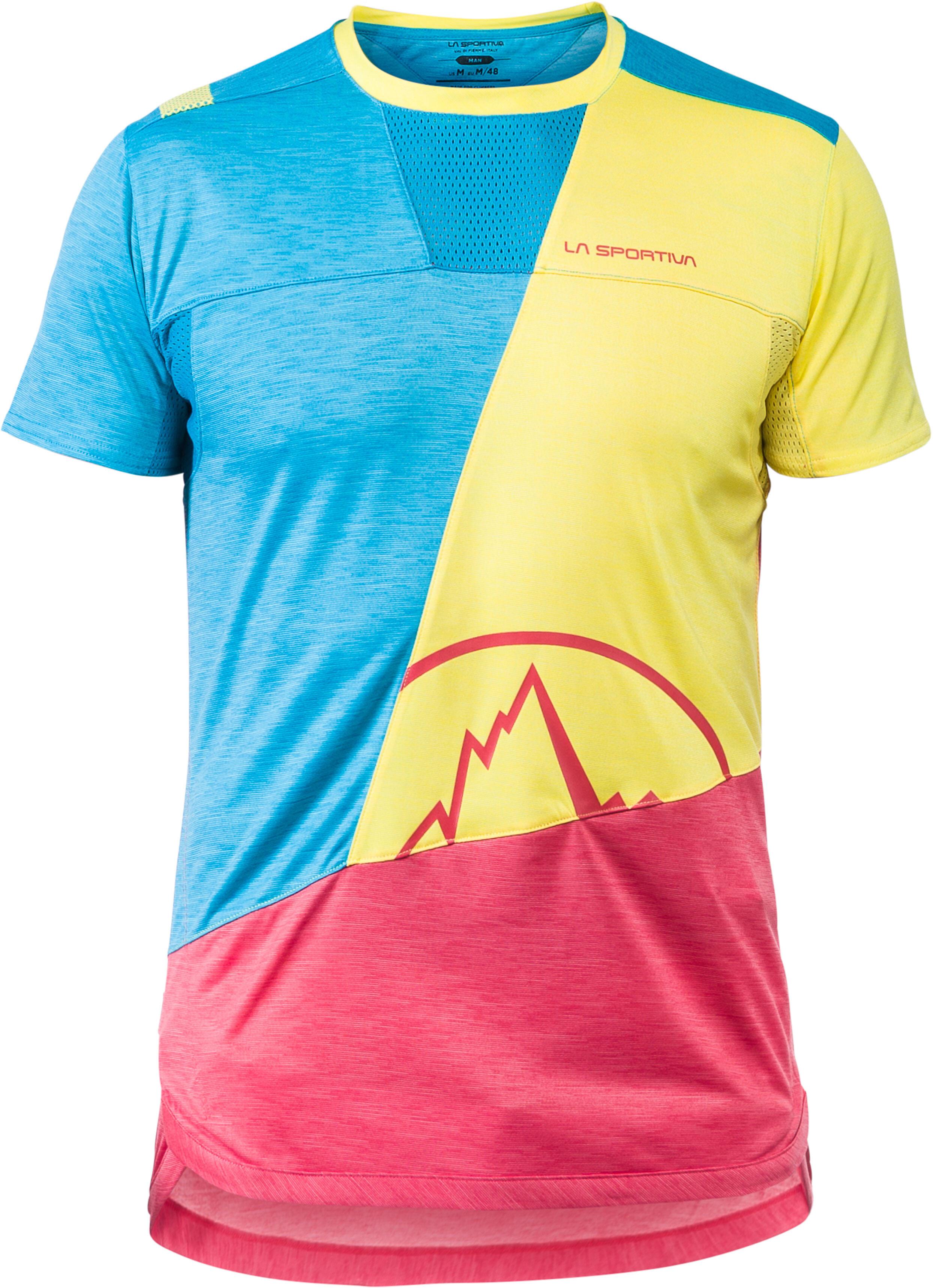 94b0fd067dd5 La Sportiva Workout - T-shirt manches courtes Homme - jaune bleu sur ...